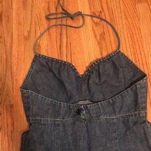 ef1d3e62b8 GAP Dresses - GAP Denim halter dress